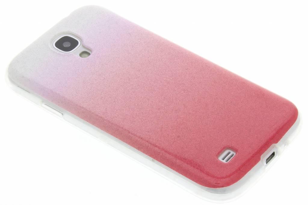 Roze glitter TPU softcase voor de Samsung Galaxy S4