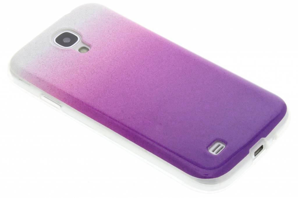 Paarse glitter TPU softcase voor de Samsung Galaxy S4