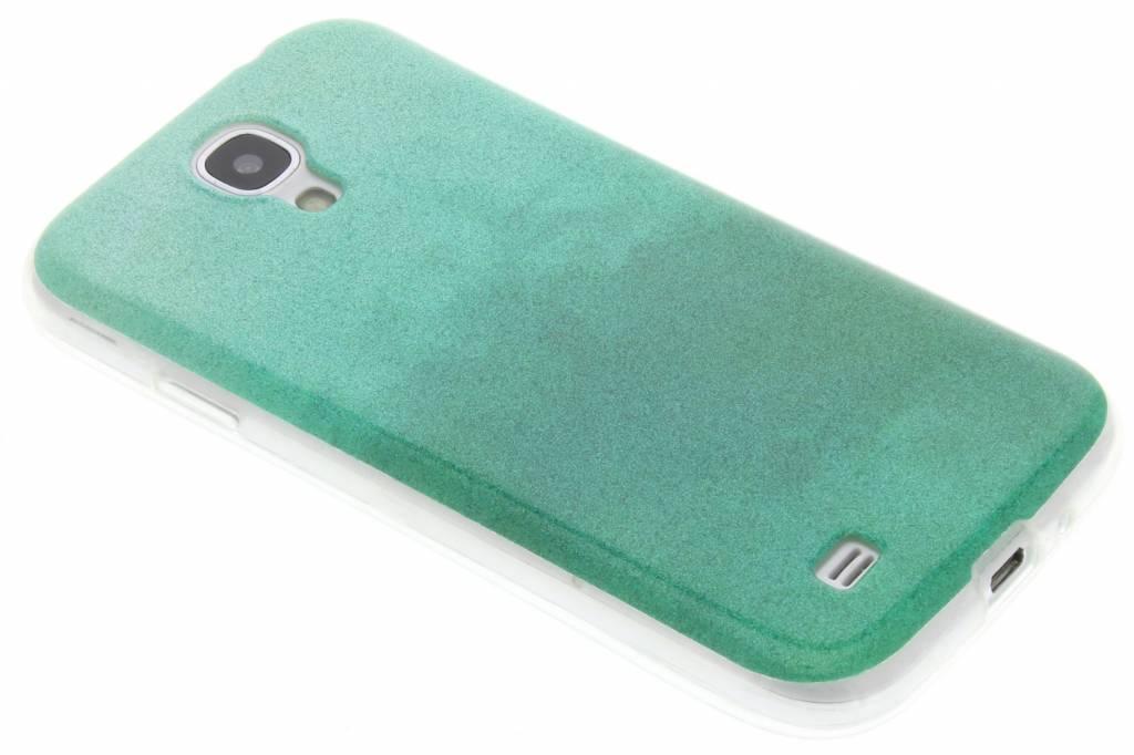 Groene glitter TPU softcase voor de Samsung Galaxy S4