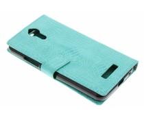 Crocodile skin wallet booktype cover Acer Liquid Zest Plus