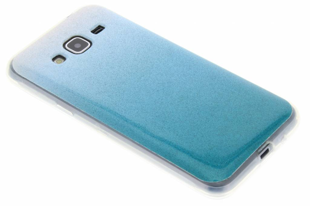 Turquoise glitter TPU softcase voor de Samsung Galaxy J3 / J3 (2016)