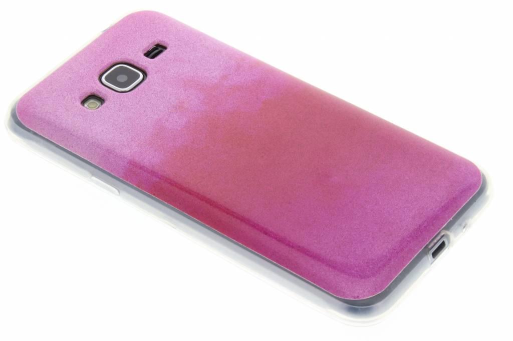 Fuchsia glitter TPU softcase voor de Samsung Galaxy J3 / J3 (2016)