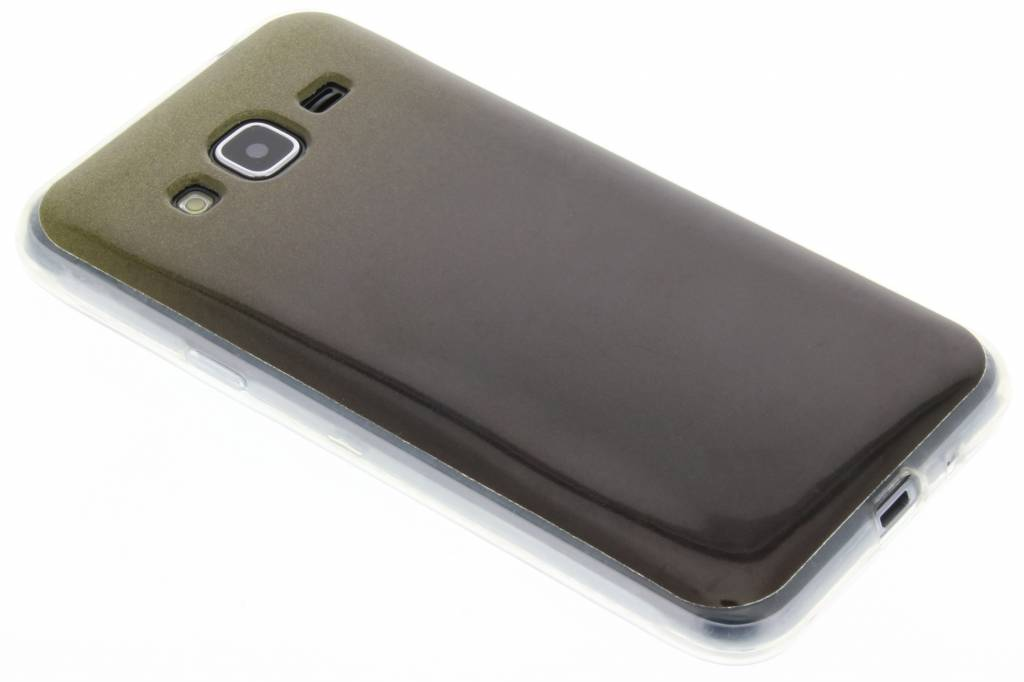 Mosgroene glitter TPU softcase voor de Samsung Galaxy J3 / J3 (2016)
