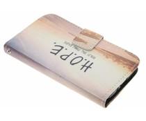 Design TPU booktype hoes LG L70 / L65