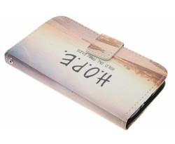 Design TPU booktype hoes LG L70