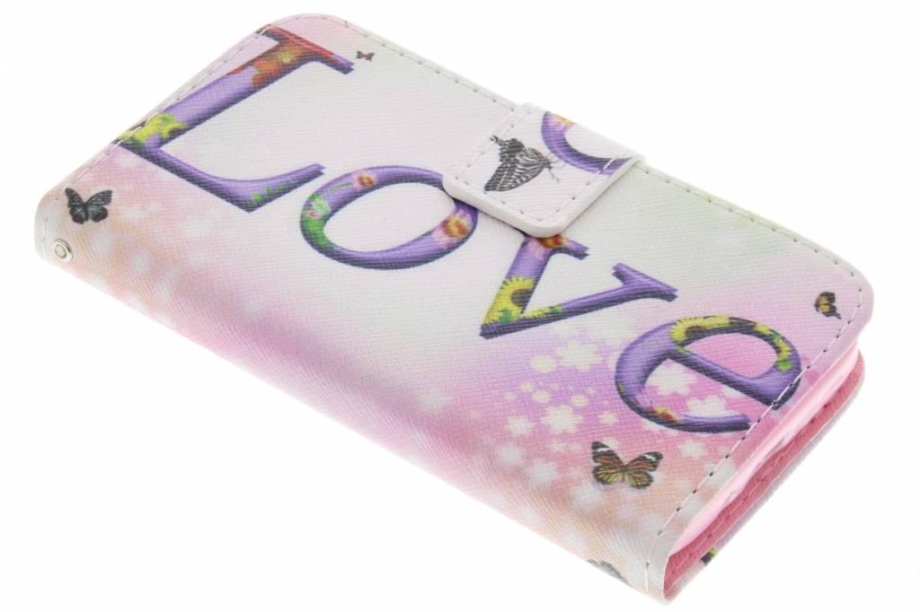 Love design TPU booktype hoes voor de LG L70