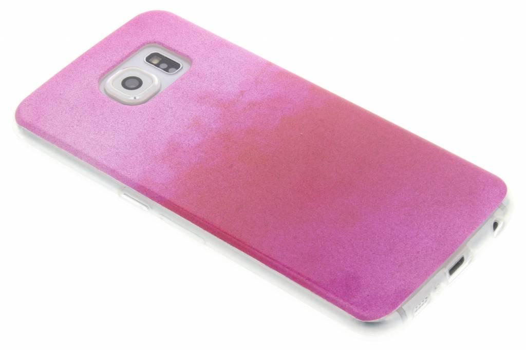 Fuchsia glitter TPU softcase voor de Samsung Galaxy S6