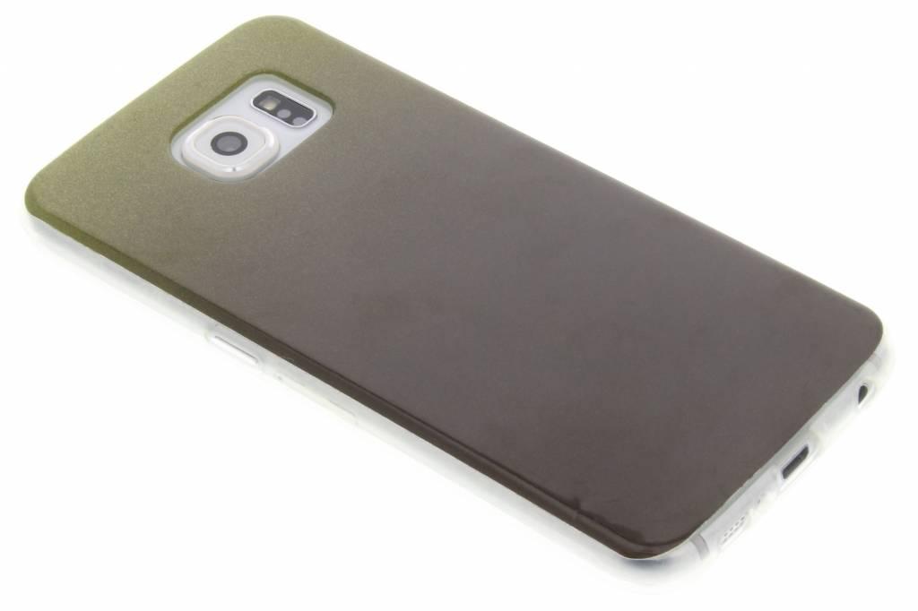 Mosgroene glitter TPU softcase voor de Samsung Galaxy S6