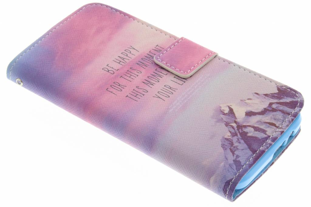 Be happy design TPU booktype hoes voor de HTC One M9