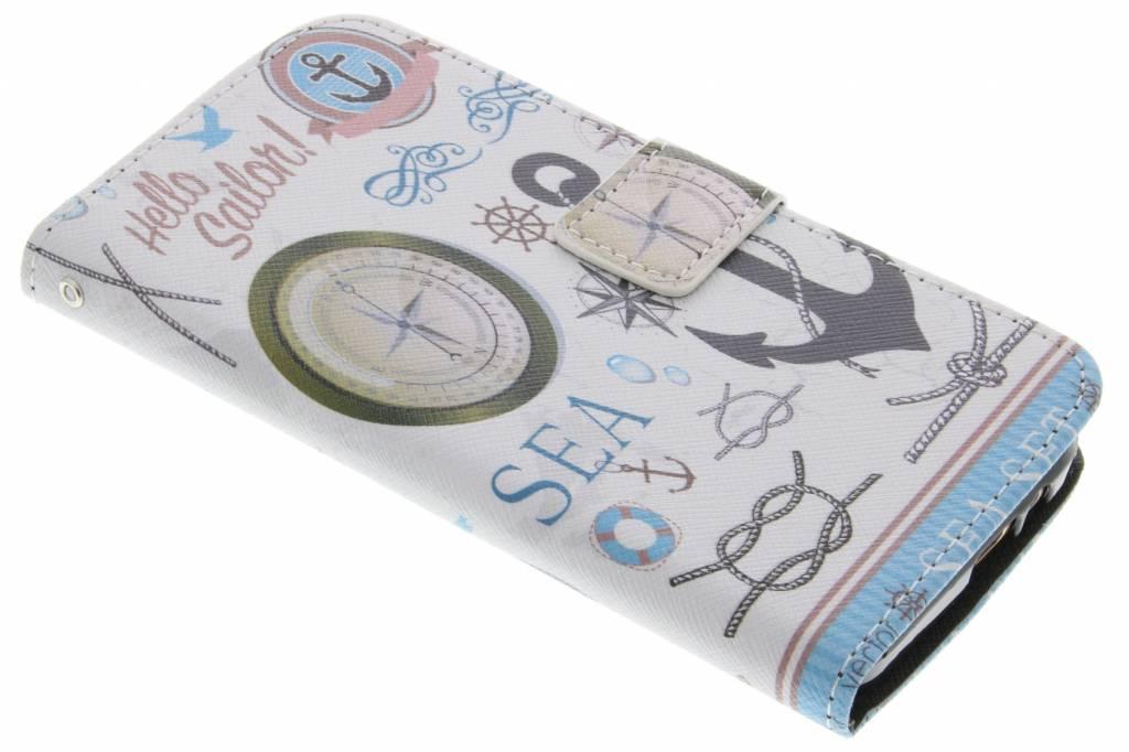 Sailor design TPU booktype hoes voor de HTC One M9