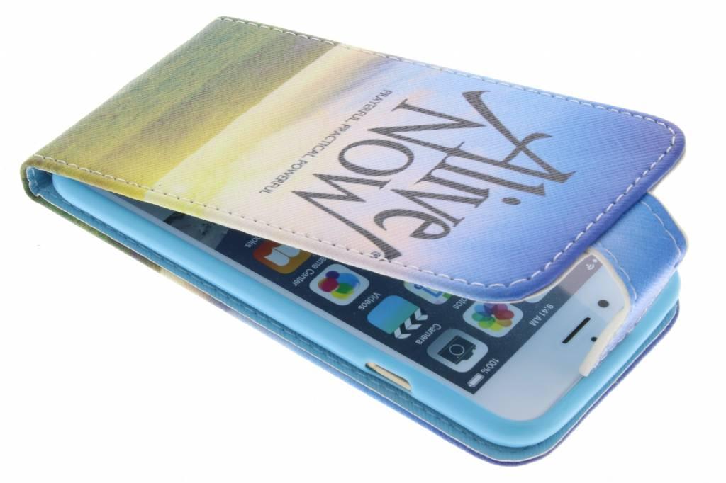 Alive now design TPU flipcase voor de iPhone 6 / 6s
