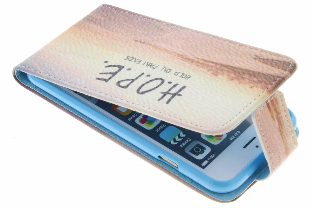 Hope design TPU flipcase voor de iPhone 6 / 6s