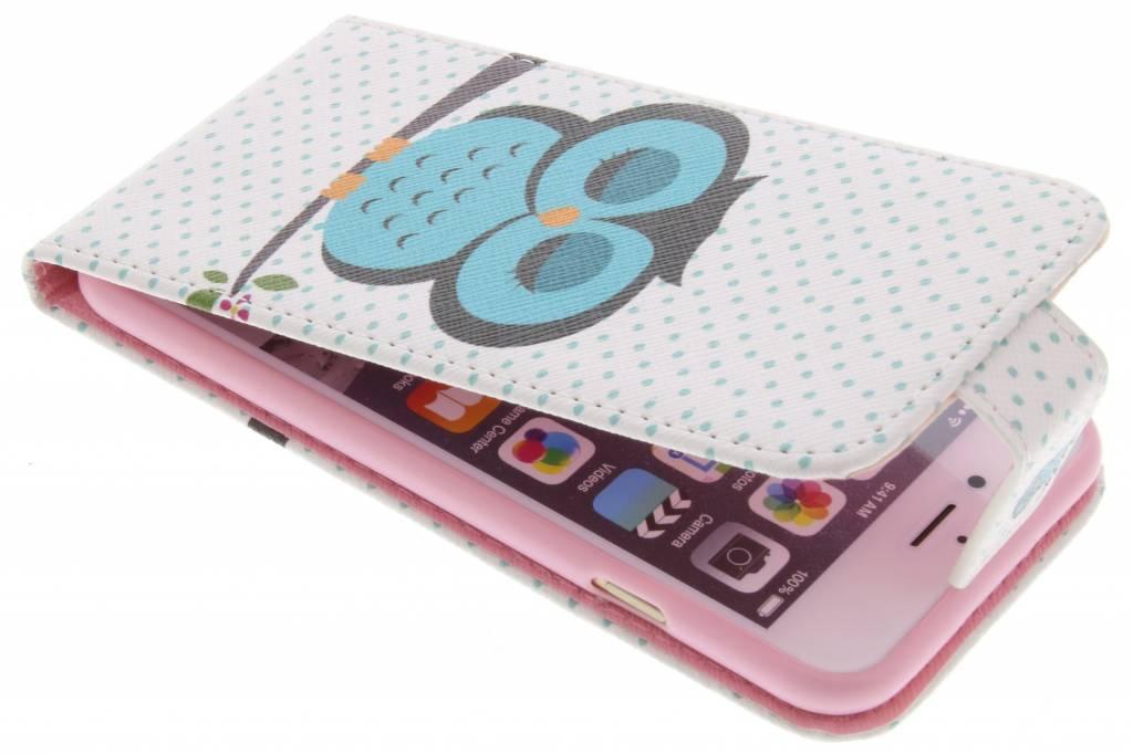 Uil design TPU flipcase voor de iPhone 6 / 6s