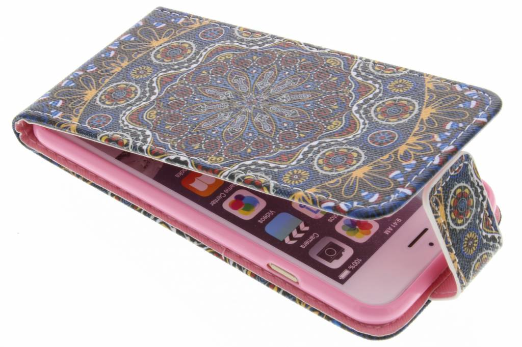 Mandala design TPU flipcase voor de iPhone 6 / 6s