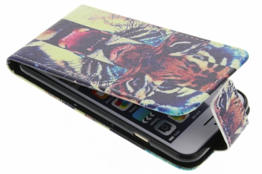 Tijger design TPU flipcase voor de iPhone 6 / 6s