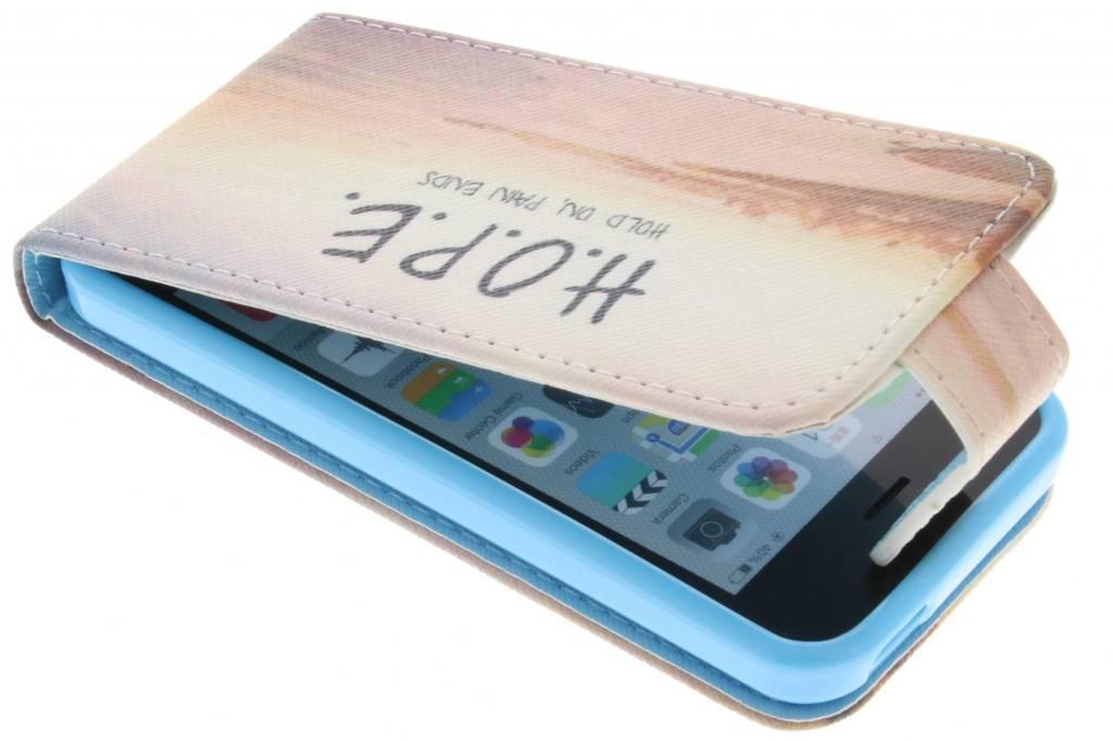 Hope design TPU flipcase voor de iPhone 5c