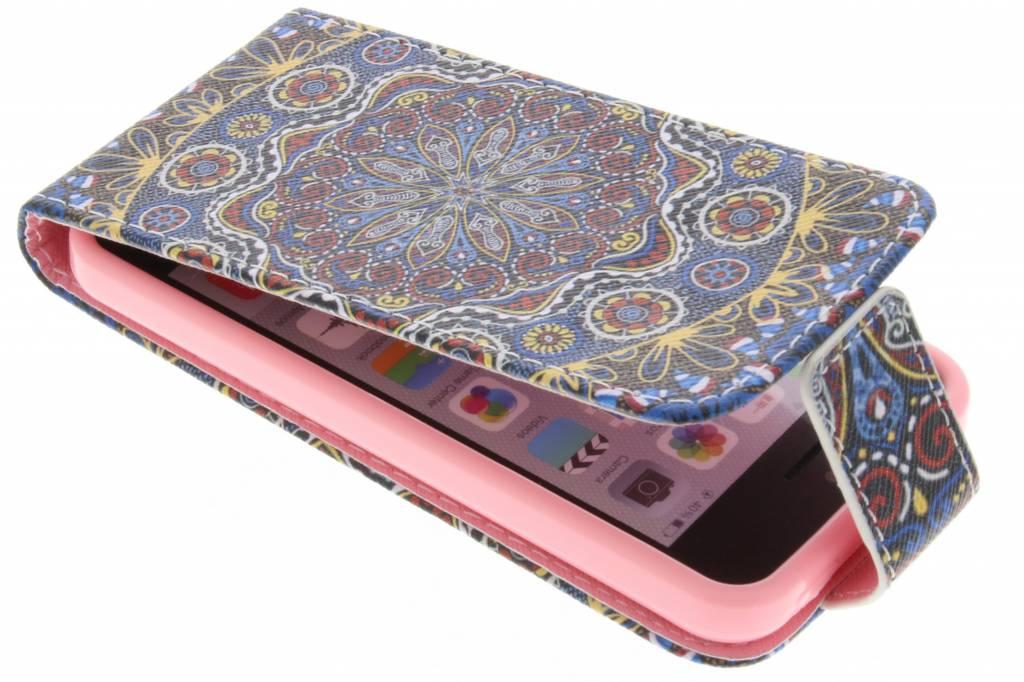 Mandala design TPU flipcase voor de iPhone 5c