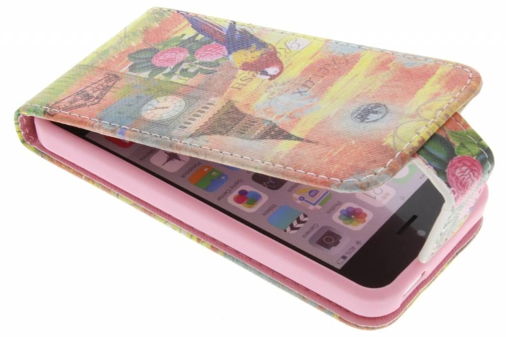 Big Ben papegaai design TPU flipcase voor de iPhone 5c