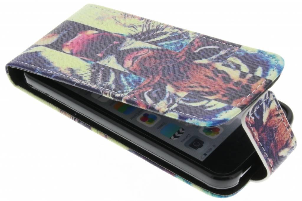 Tijger design TPU flipcase voor de iPhone 5c