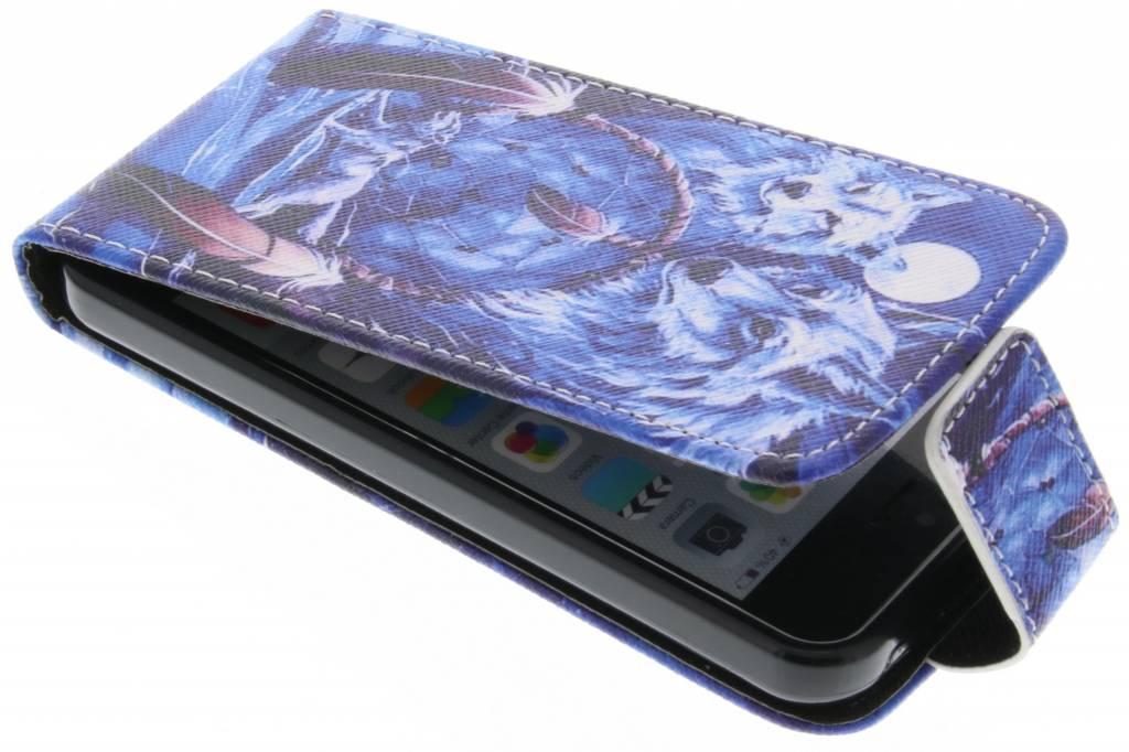 Wolven design TPU flipcase voor de iPhone 5c