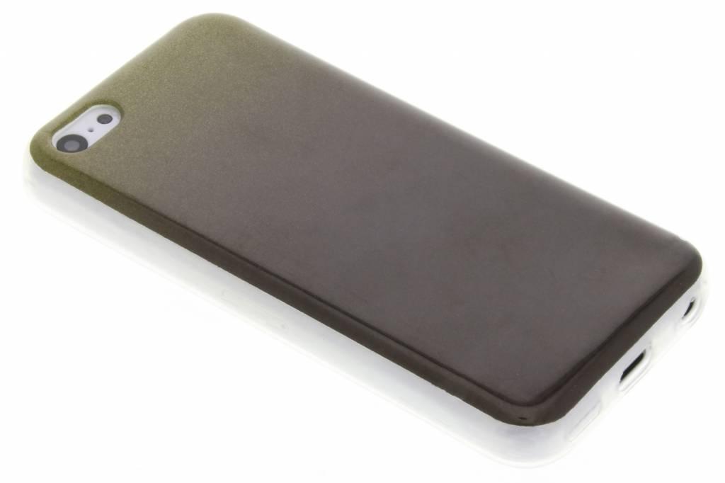 Mosgroene glitter TPU softcase voor de iPhone 5c