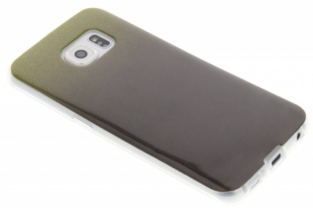 Mosgroene glitter TPU softcase voor de Samsung Galaxy S6 Edge