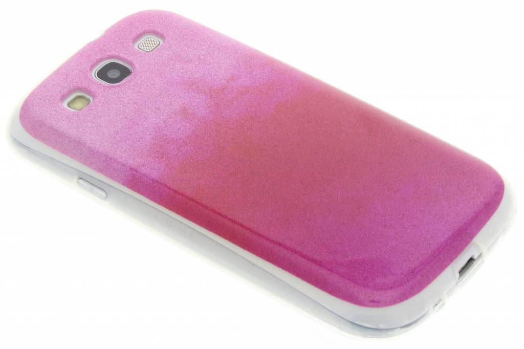 Fuchsia glitter TPU softcase voor de Samsung Galaxy S3 / Neo