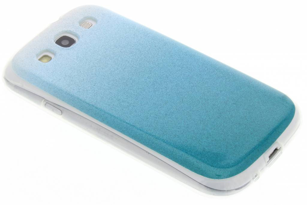 Turquoise glitter TPU softcase voor de Samsung Galaxy S3 / Neo
