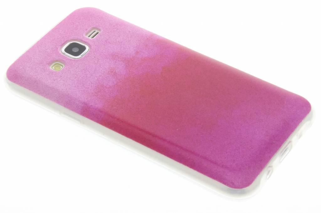Fuchsia glitter TPU softcase voor de Samsung Galaxy J5