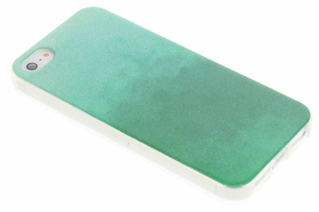 Groene glitter TPU softcase voro de iPhone 5 / 5s / SE