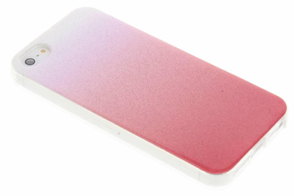 Roze glitter TPU softcase voro de iPhone 5 / 5s / SE