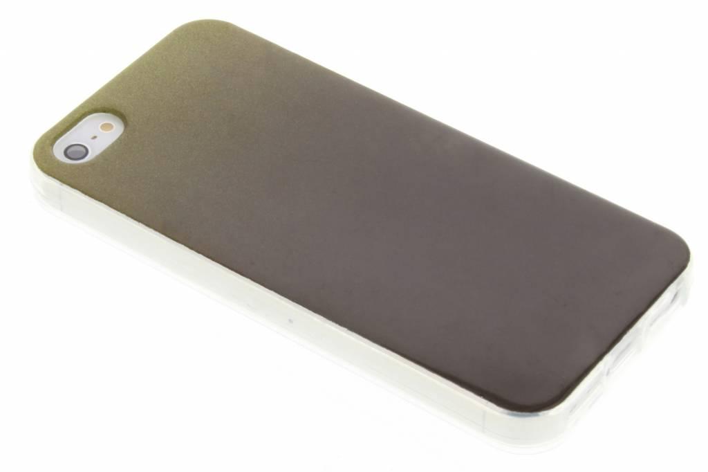 Mosgroene glitter TPU softcase voro de iPhone 5 / 5s / SE