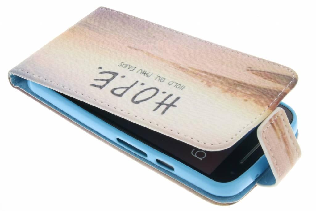 Hope design TPU flipcase voor de Motorola Moto G 2nd Gen 2014