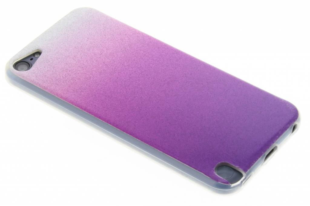 Paarse glitter TPU softcase voor de iPod Touch 5g / 6