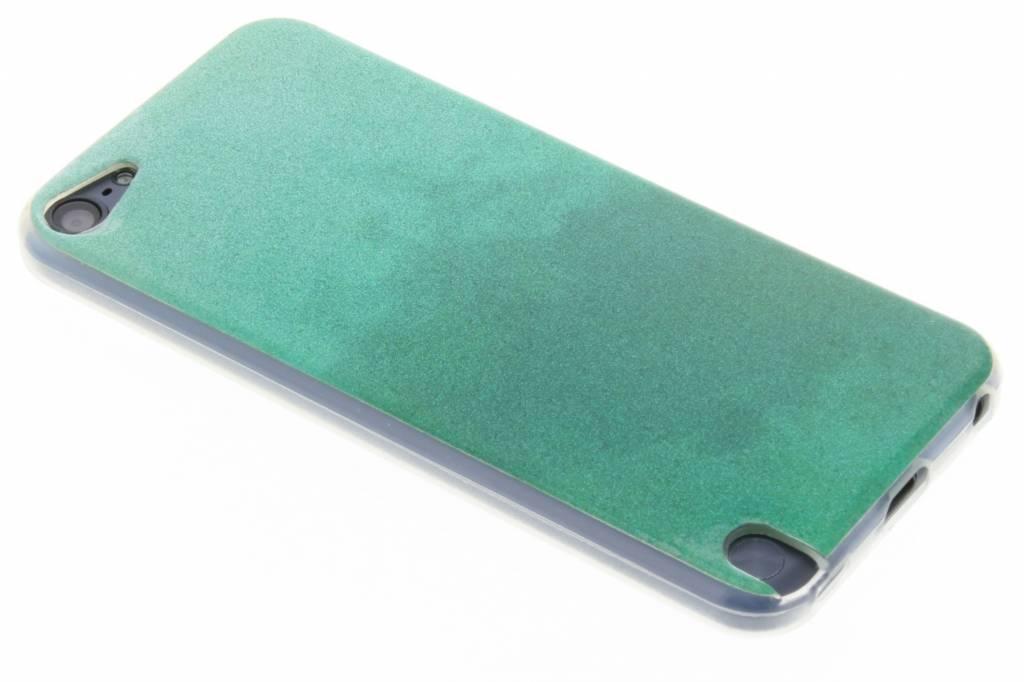 Groene glitter TPU softcase voor de iPod Touch 5g / 6