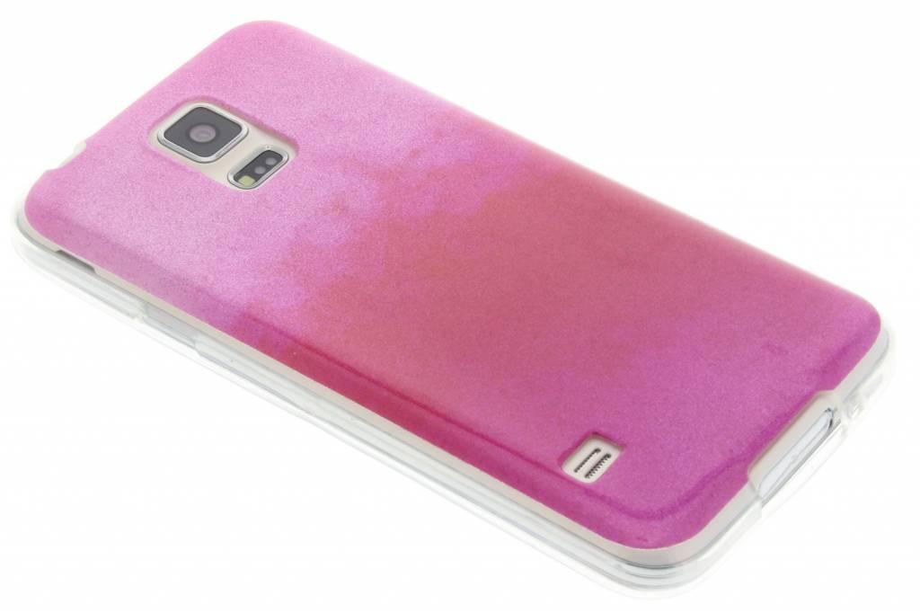 Fuchsia glitter TPU softcase voor de Samsung Galaxy S5 (Plus) / Neo