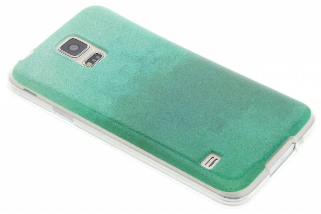 Groene glitter TPU softcase voor de Samsung Galaxy S5 (Plus) / Neo