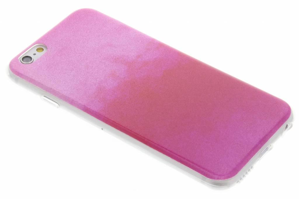 Fuchsia glitter TPU softcase voor de iPhone 6 / 6s