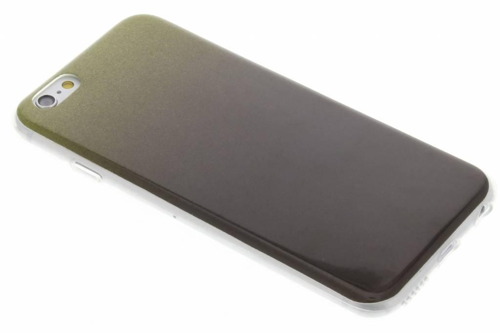 Mosgroene glitter TPU softcase voor de iPhone 6 / 6s