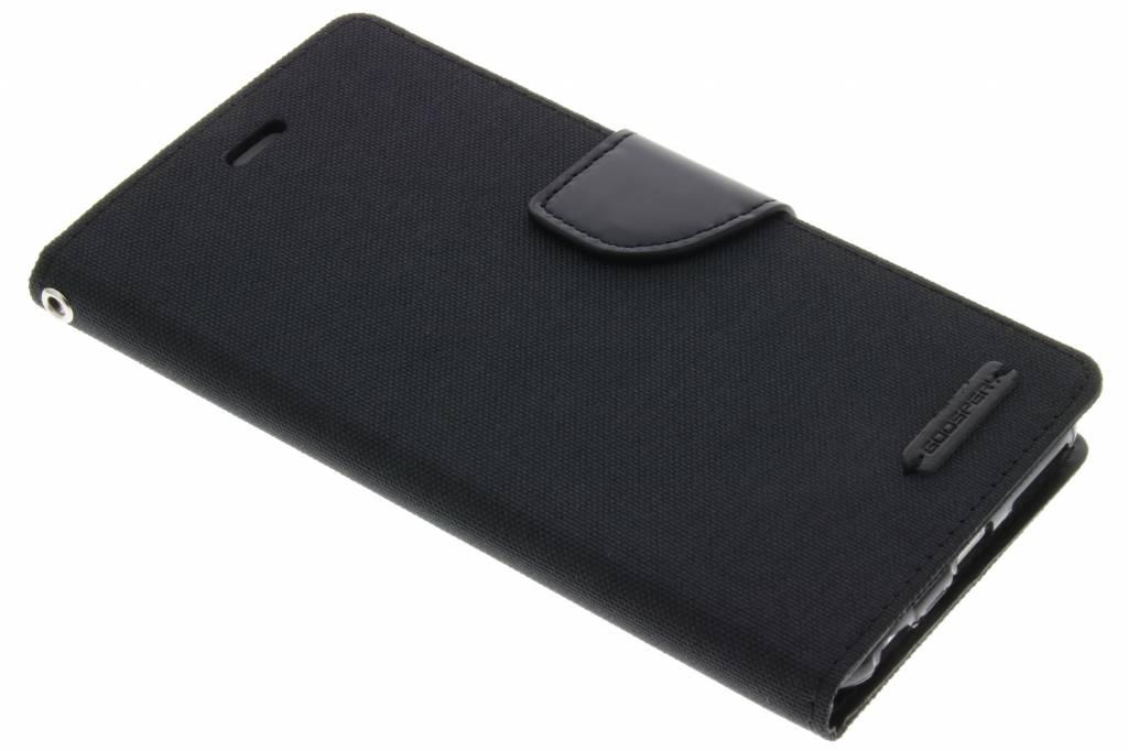 Canvas Diary Case voor de iPhone 6(s) Plus - Zwart
