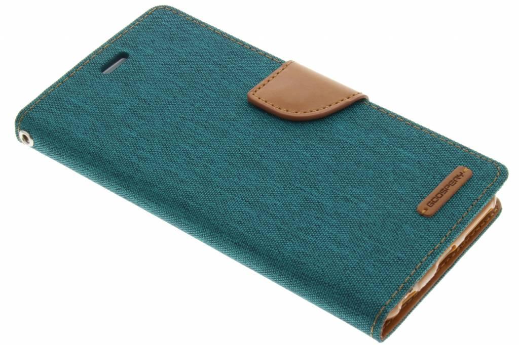 Canvas Diary Case voor de iPhone 6(s) Plus - Groen
