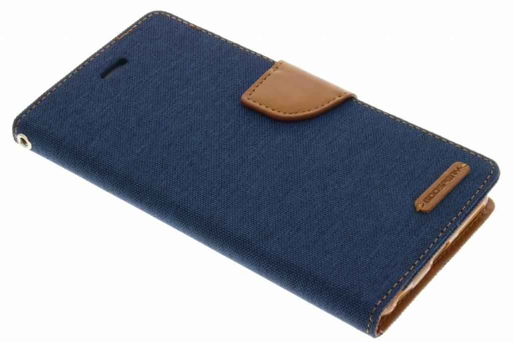 Canvas Diary Case voor de iPhone 6(s) Plus - Blauw