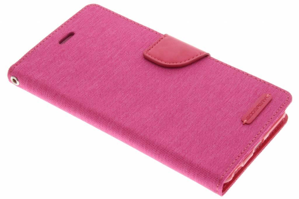 Mercury Goospery Canvas Diary Case voor de iPhone 6(s) Plus - Fuchsia