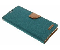 Mercury Goospery Canvas Diary Case Sony Xperia C5 Ultra