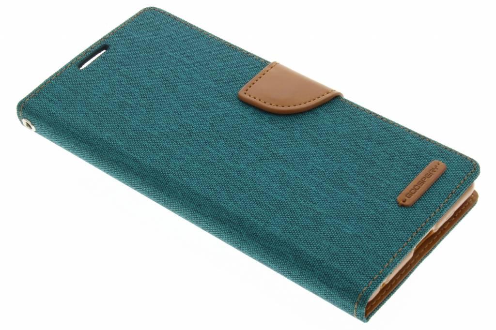 Mercury Goospery Canvas Diary Case voor de Sony Xperia C5 Ultra - Groen