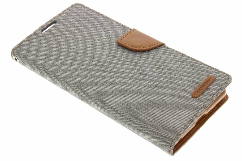 Mercury Goospery Canvas Diary Case voor de Sony Xperia C5 Ultra - Grijs