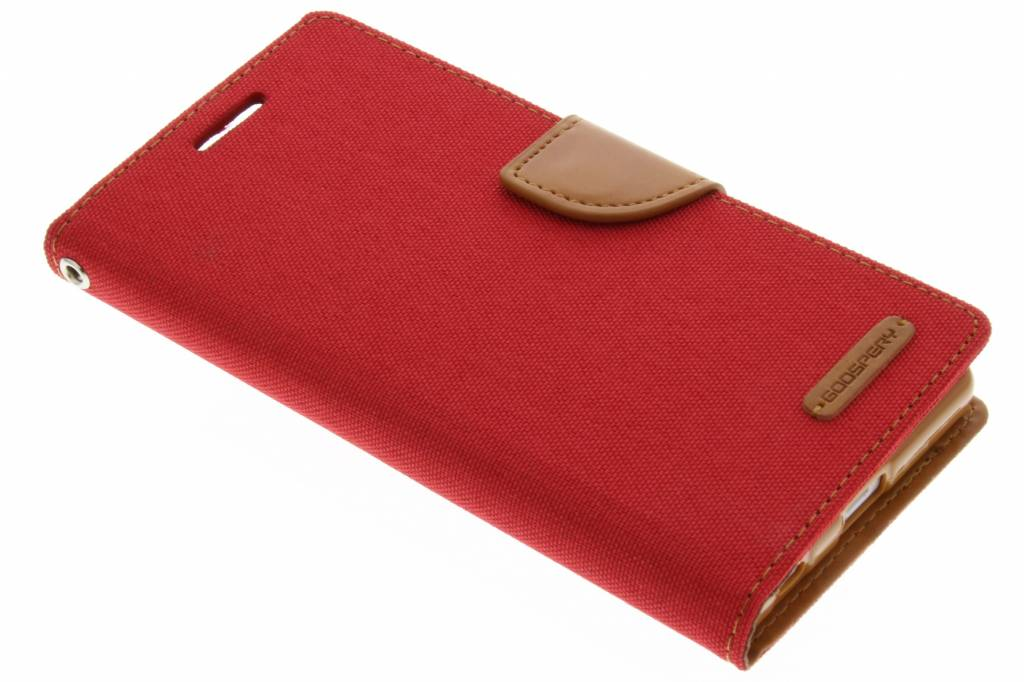 Mercury Goospery Canvas Diary Case voor de Sony Xperia Z5 - Rood
