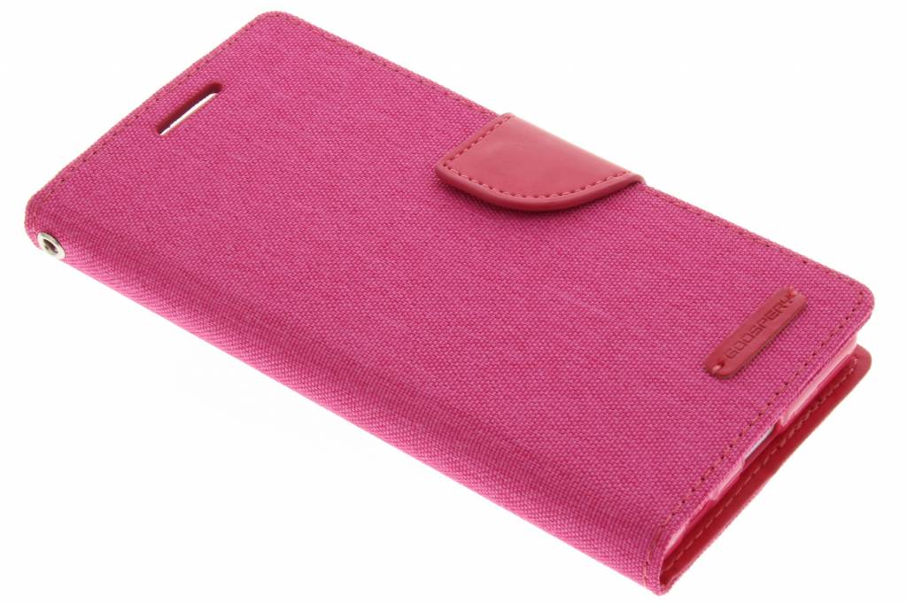 Mercury Goospery Canvas Diary Case voor de Sony Xperia Z5 - Fuchsia