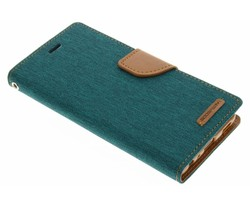 Mercury Goospery Canvas Diary Case Huawei P9 - Groen