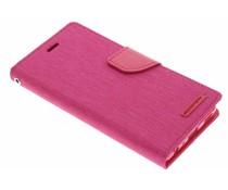 Mercury Goospery Canvas Diary Case Huawei P9 - Fuchsia